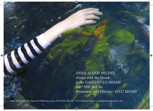 "ANNA ALEXIS MICHEL expose sa série ""Gone with the Flood"" à la GALLERY 212 à MIAMI"