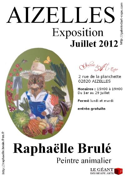 exposition peinture Raphaëlle Brulé Aizelles juillet 2012