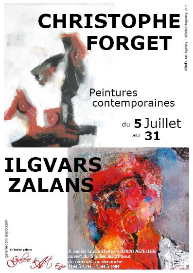 Christophe Forget - Ilgvars Zallans exposent du 5 au 31 juillet à l'atelier galerie GaleriedArt-Expo,Exposition,GalerieDArt-Expo,Aizelles,CCCD,Chemin des Dames,Aisne,Picardie,France