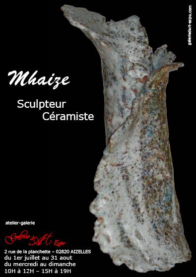 Sculptures de Mhaize 1er au 31 aout à l'atelier galerie GaleriedArt-Expo.com,Exposition,GalerieDArt-Expo,Aizelles,CCCD,Chemin des Dames,Aisne,Picardie,France