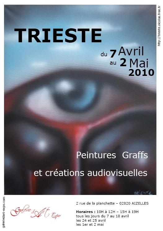 Peintures, graffs et créations audiovisuelles de Trieste du 7 avril au 2 mai 2010 à Aizelles,Exposition,GalerieDArt-Expo,Aizelles,CCCD,Chemin des Dames,Aisne,Picardie,France