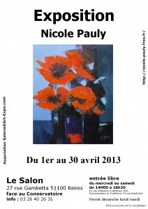 Nicole Pauly Exposition 2013 au Salon à Reims