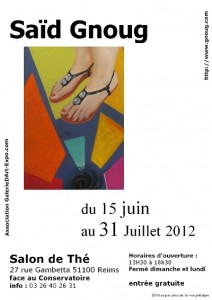 exposition Saïd Gnoug 2012 à Reims
